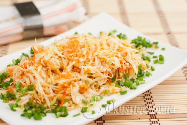 рецепт салата с капустой свежей и курицей