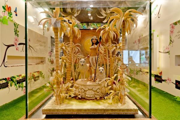 одна из экспозиций в музее марципана