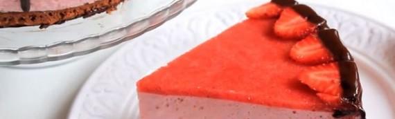 Трехцветный торт суфле рецепт с фото