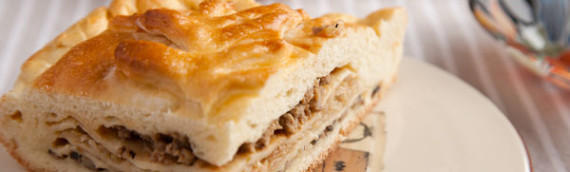 Кулебяка рецепт с фото (капуста, грибы и мясо)