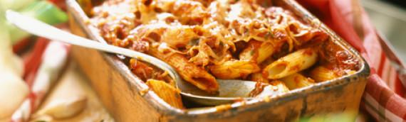 Макароны запеченные в духовке с куриной грудкой