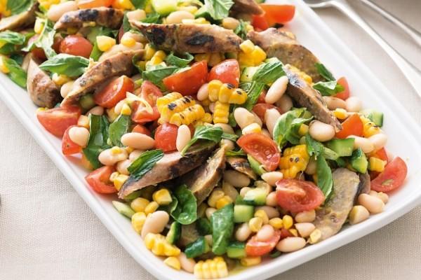 салаты из вареной фасоли рецепты просто и вкусно