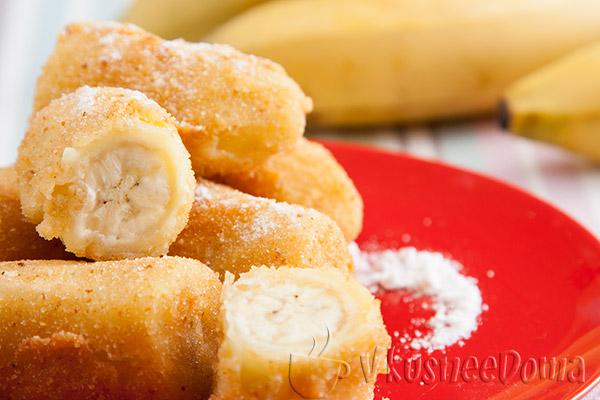 Жареные бананы в кляре рецепт с фото