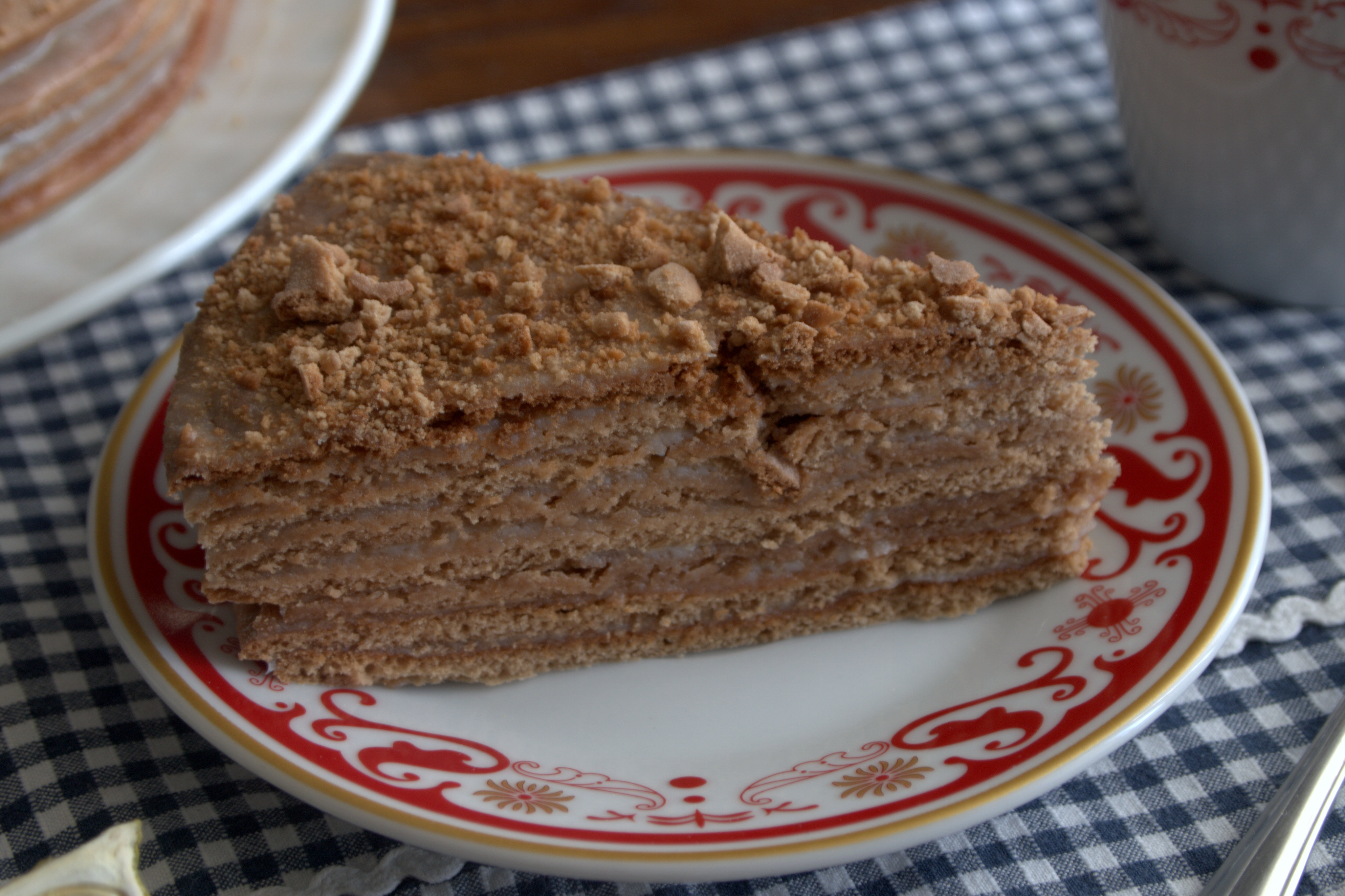 Медовый торт в домашних условиях со сметанным кремом фото рецепт