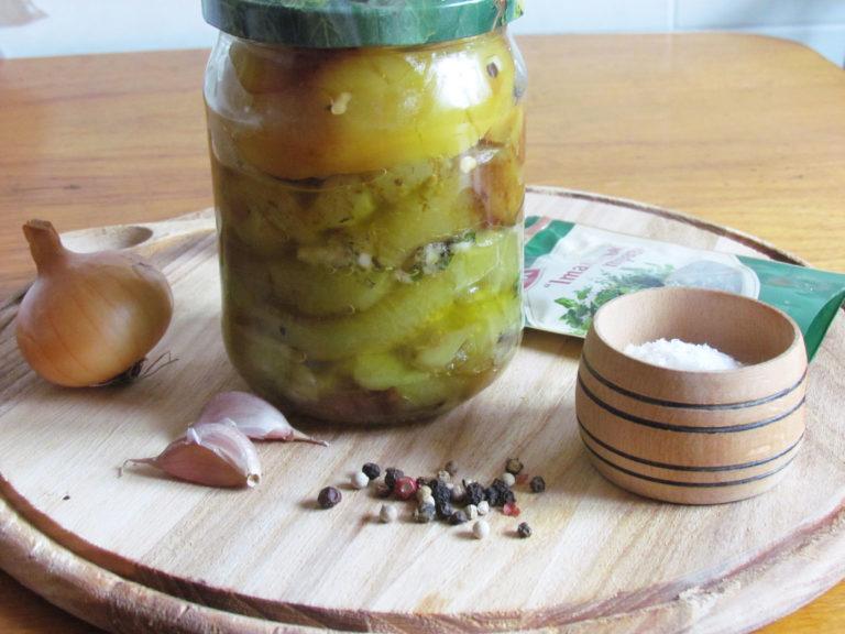 Рецепт на зиму перца в масле с уксусом болгарский