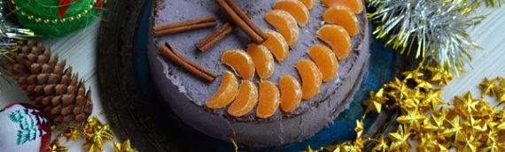 Сиреневый новогодний торт своими руками рецепт с фото