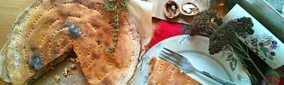 Итальянский пирог на кефире с рыбными консервами