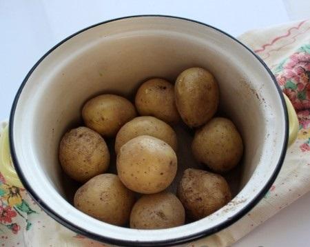 Обсушить картошку