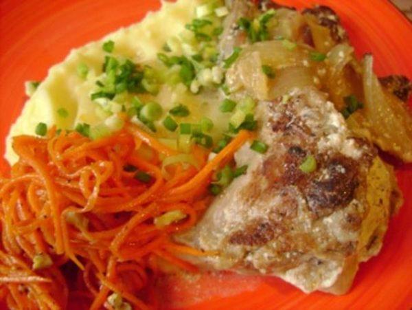 Готовое блюдо с гарниром