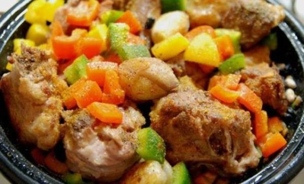 Кебаб с овощами