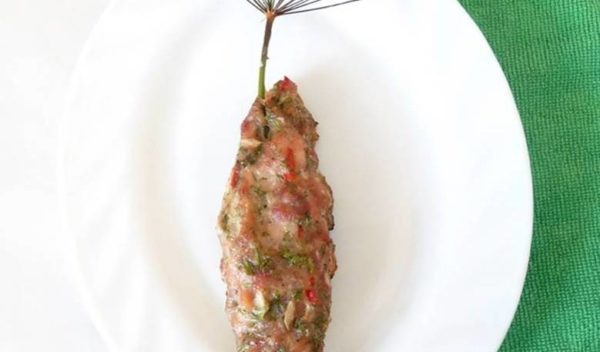 Кебаб на укропной палочке