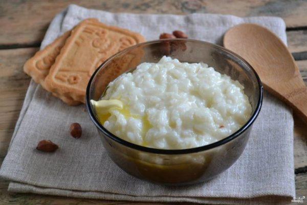 Рисовая каша на сгущенном молоке