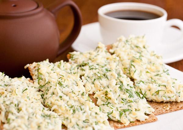 Быстрый завтрак из яиц и хлеба