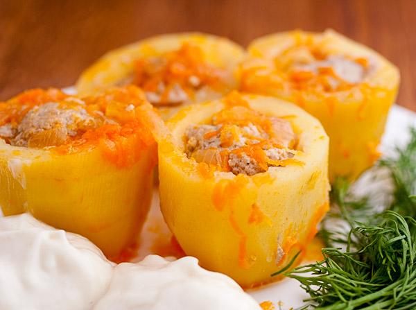 картошка фаршированная фаршем рецепт в духовке