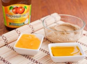 + уксус, мед и масло растительное