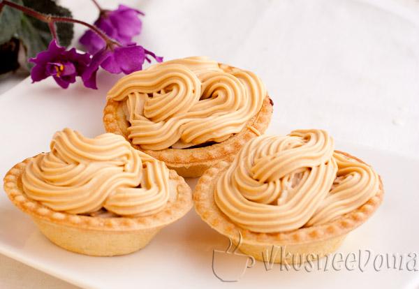 пирожные корзиночки рецепт с фото