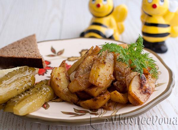картошка в духовке в паприкой