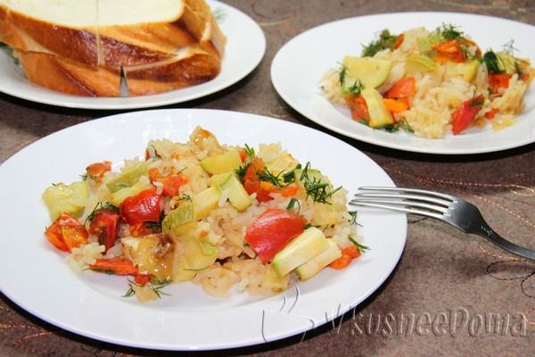 рис с овощами свежими