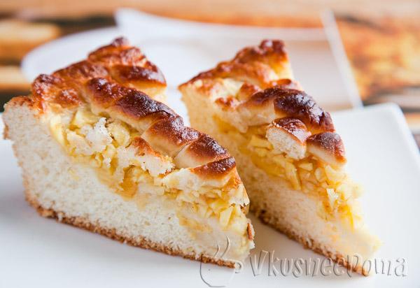 Яблочный пирог из дрожжевого теста рецепт с фото