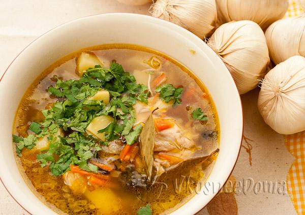 рецепт супа с сухими грибами и курицей