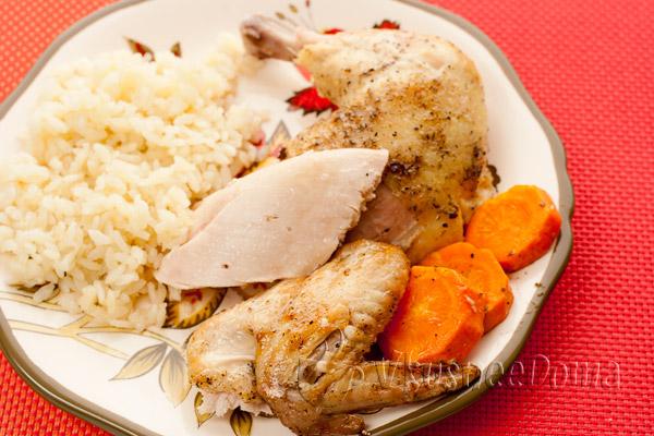 курица в духовке с овощами рецепт с фото