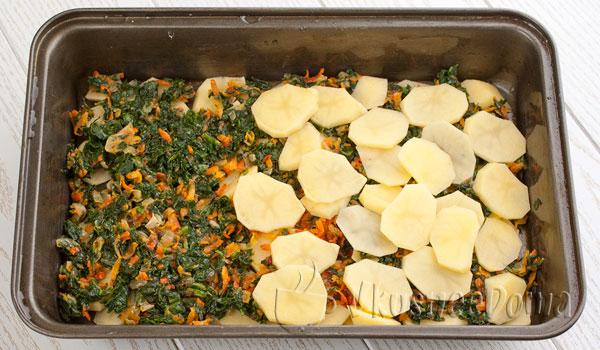 слой овощей и слой картошки