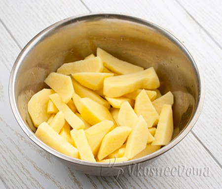 картофель для супа режем крупно