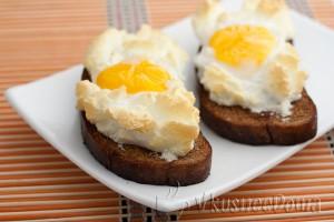 горячий бутерброд с яйцом в духовке