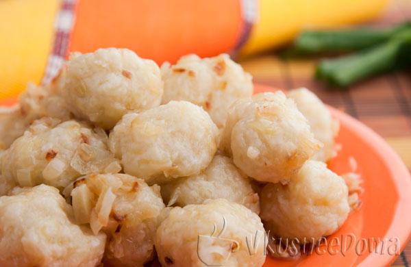 галушки картофельные