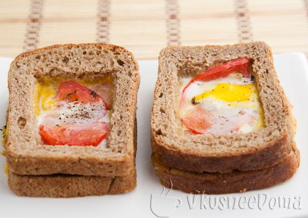 горячий бутерброд с дыркой