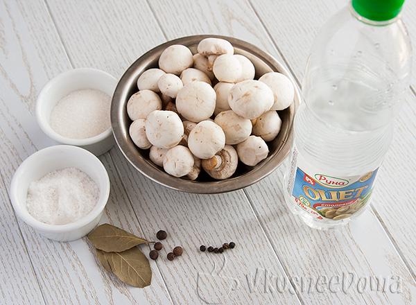 ингредиенты для консервации грибов