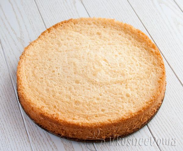 вот такой получился бисквит