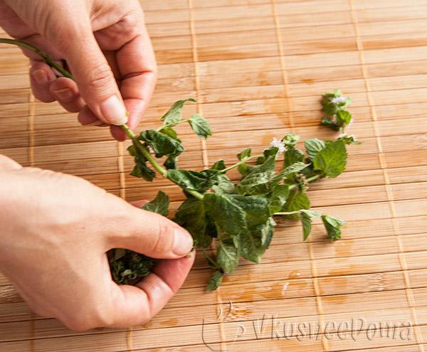 мята - пикантность салата