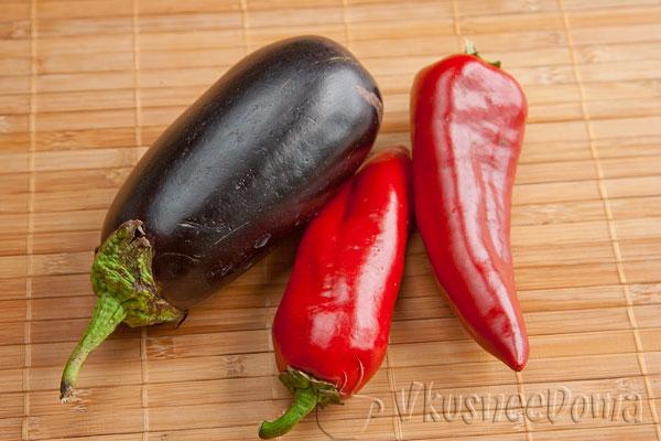 овощи - это перец и баклажаны