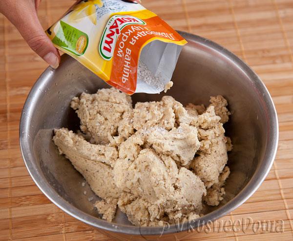 в тесто добавляем ваниль