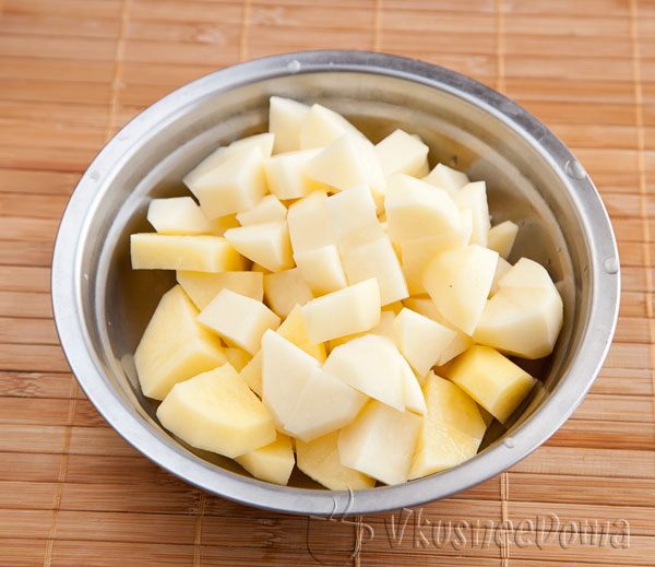картофель режим кубиками