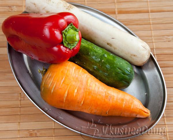 овощи для лапши