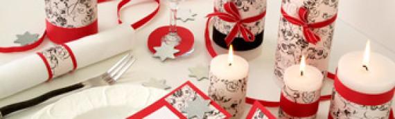 Украшение Новогоднего стола (в синем и красном)