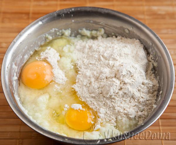 + яйца и мука