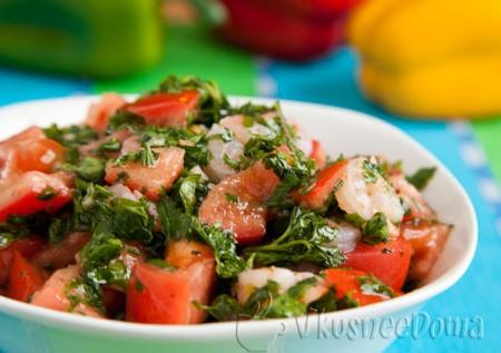 салат с креветками оливковый