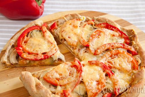 Вегетарианская пицца рецепт с фото