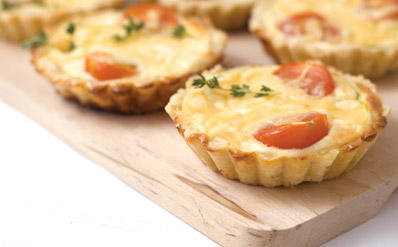 cherry-tomato-and-goats-cheese-tartlets