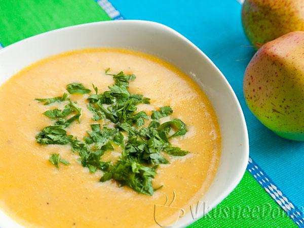 суп пюре со сливками из тыквы
