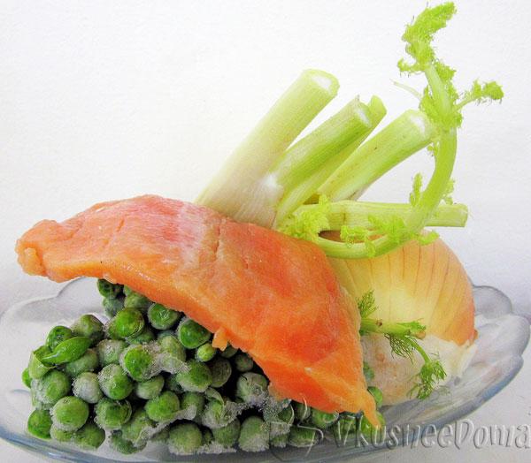"""""""Самодельный"""" салат с лососем рецепт с фото"""