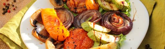 Овощи гриль на сковороде