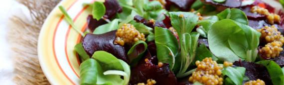 Салат из вареной свеклы (ресторанный)