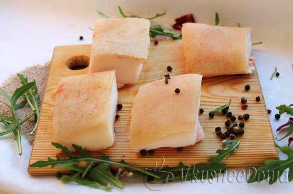 соленое сало рецепт с фото