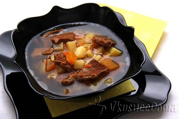 """Краски осени"" - суп овощной рецепт"