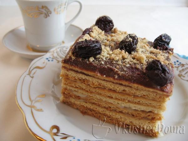 Торт медовый с заварным кремом