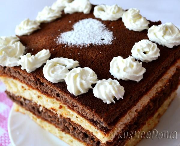 украшаем верх пирога